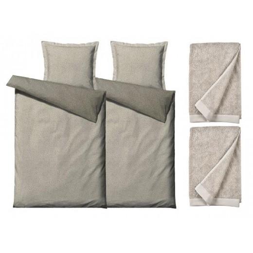 Södahl Sengesæt Balance 200 cm og håndklæder Comfort organic-356