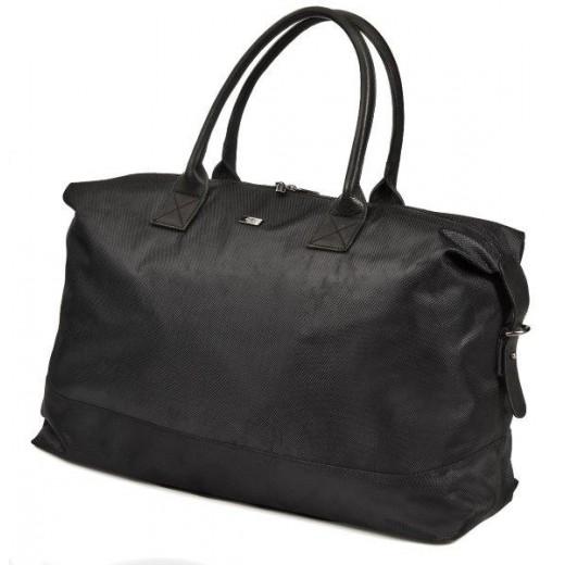 Bon Goût Rejsetaske i polyester med skind sort-310