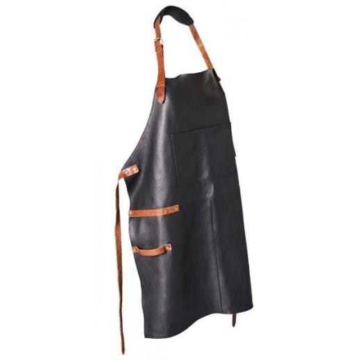 Bon Goût Forklæde i læder, sort-38