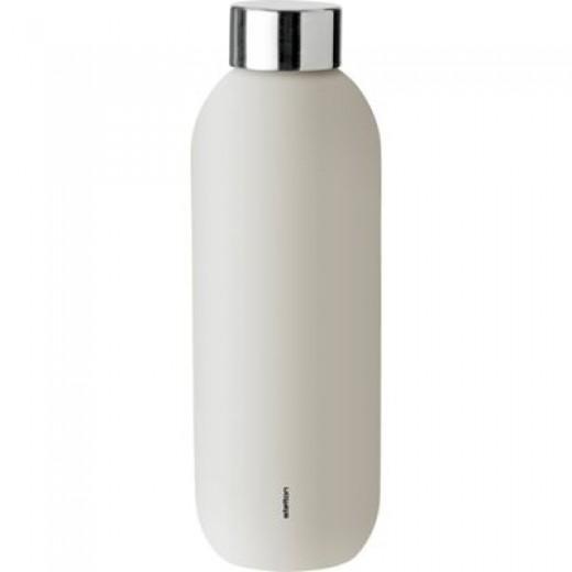 Stelton Keep Cool drikkeflaske i stål/Sand-310