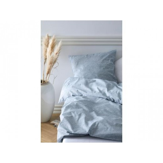 Södahl Sengetøj Chambray i blå 200 cm med Comfort håndklæder-025