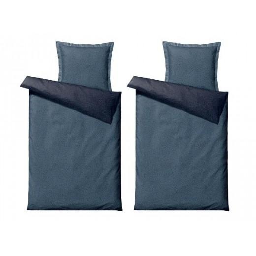 Södahl Satinvævet Sengetøj Balance i Indigo blå, 220 cm-023