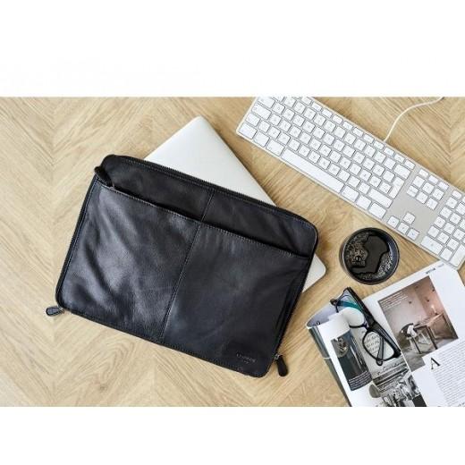 """Corium 13"""" Computer taske i sort skind-333"""