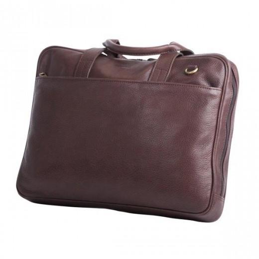 Bon Goût Computertaske i læder, brun-36