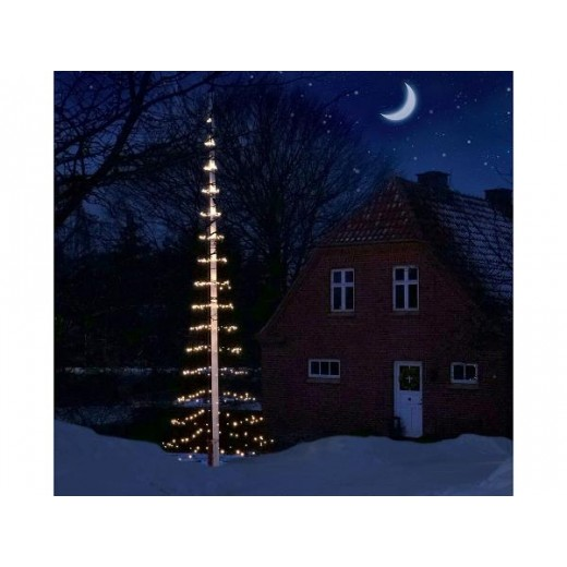 Scandinavia Gifts Juletræs lyskæde til 8 m Flagstang-345