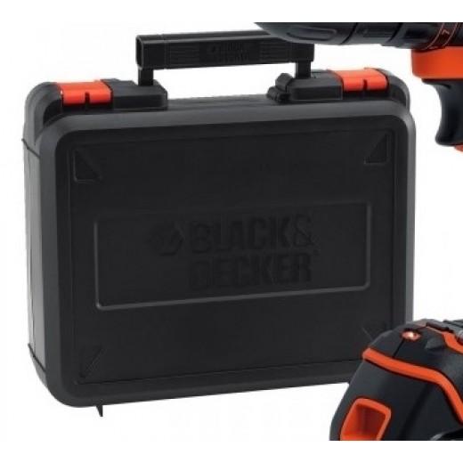 Black and Decker 18V Slagboreskruemaskine med lader og kuffert-03