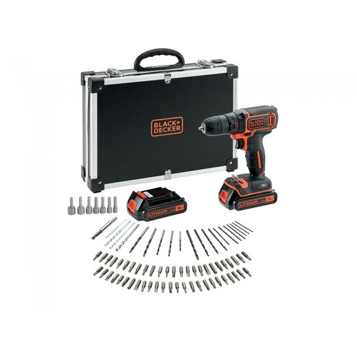 Black and Decker 18V Boremaskine, 2 batterier, 80 dele-31