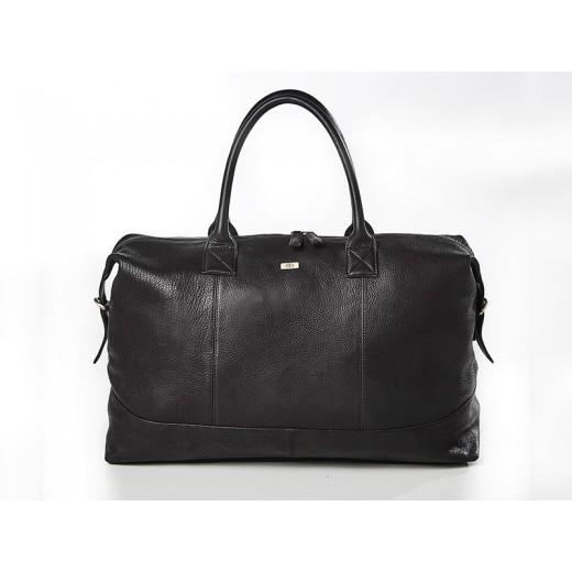 Bon Goût Rejsetaske i læder, sort-04