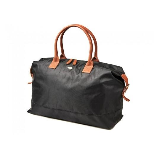 Bon Goût Rejsetaske i polyester med skind sort/cognac-310