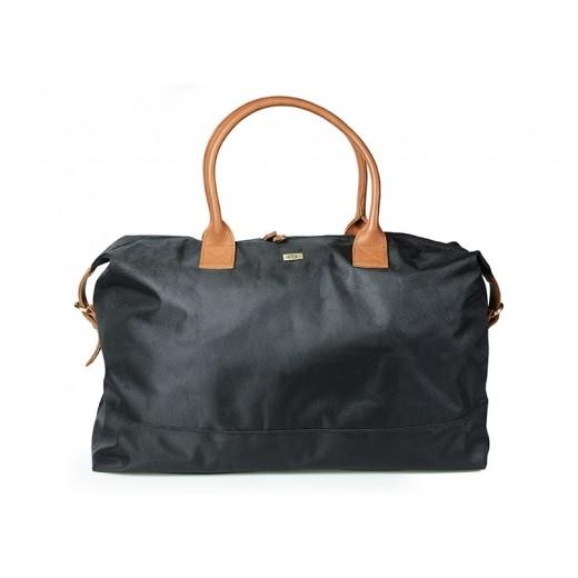 Bon Goût Rejsetaske i polyester med skind sort/cognac-010