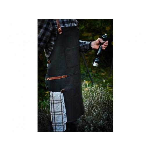 Bon Goût Forklæde i læder, sort-08