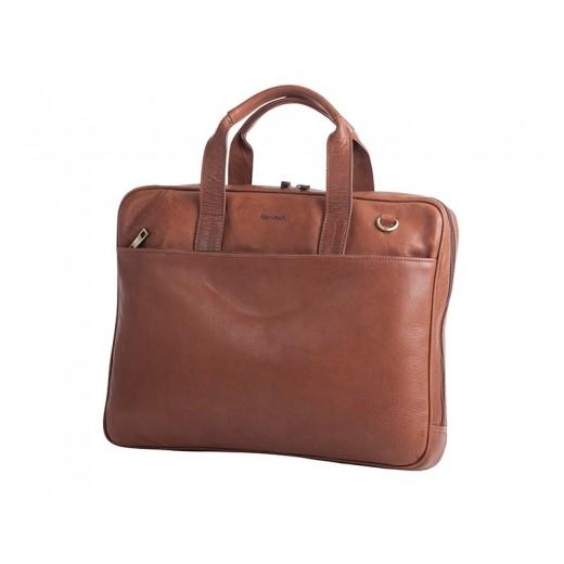 Bon Goût Computertaske i læder, cognac-34