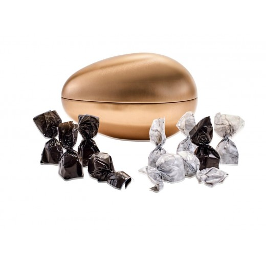 Coca Lux Chokolade, marcipan and Luksusæg i Bronze strudse metalæg-38