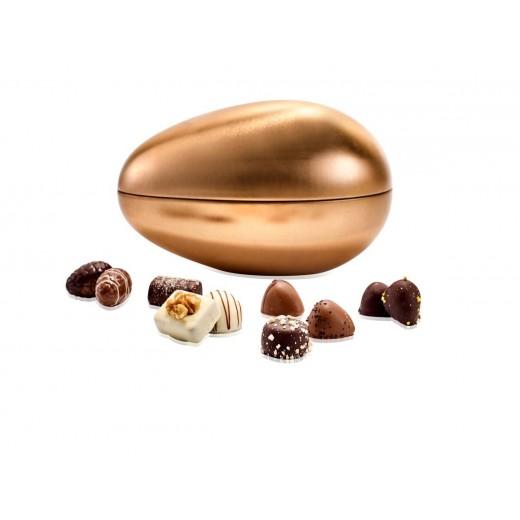 Coca Lux Chokolade, marcipan and Luksusæg i Bronze strudse metalæg-08