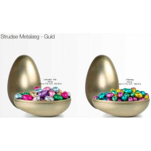 Coca Luksusæg i Guld strudse metalæg-30