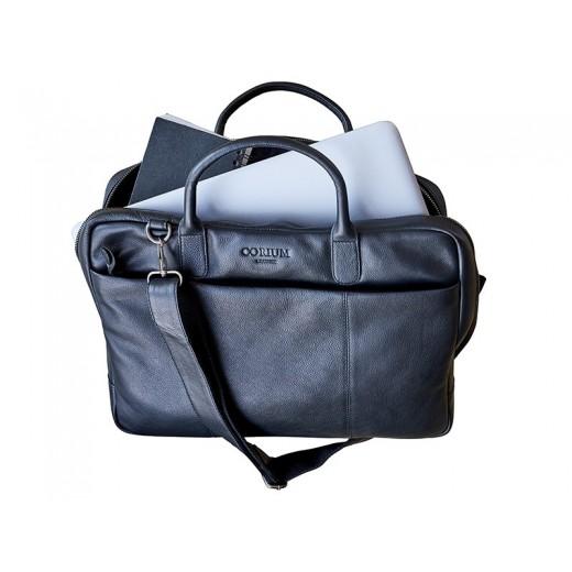 Corium Computertaske i sort læder-01