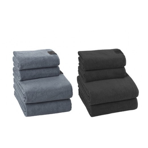 Georg Jensen Damask Gave 4 Håndklædepakke i Dusty Blue-01