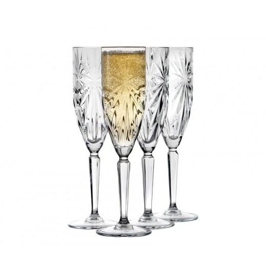 Lyngby Glas Symfonia Champagne glas, 4 stk.-30