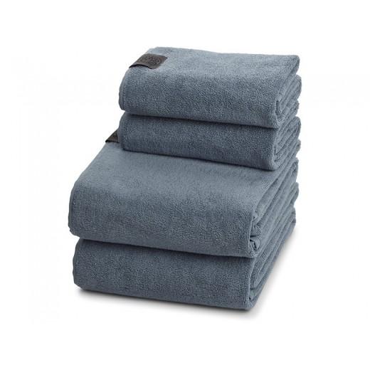 Georg Jensen Damask Gave 4 Håndklædepakke i Dusty Blue-31