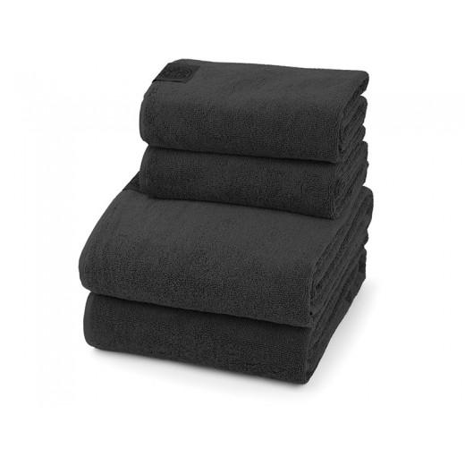 Georg Jensen Damask Gave 4 Håndklædepakke i Steel Grey-30