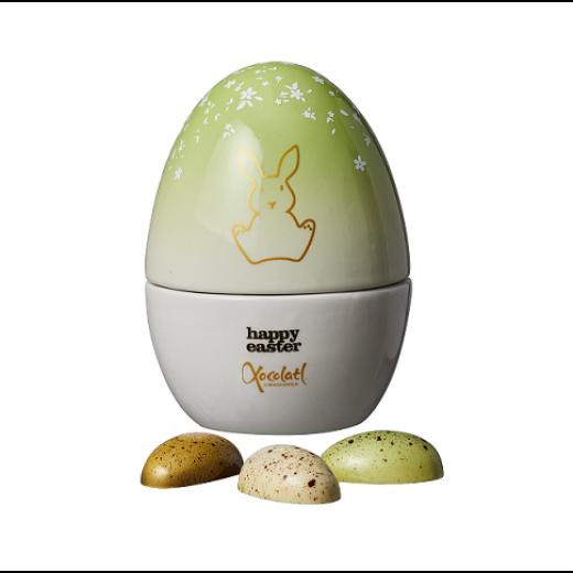 Xocolatl Porcelænsæg i gul eller grøn med påskeæg-011