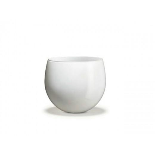 Holmegaard Cocoon Urtepotteskjuler Hvid 12,8 cm