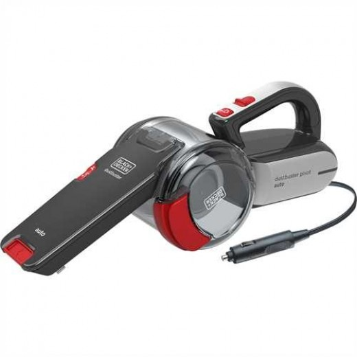 Black and Decker 12W Auto Pivot Bil Støvsuger-00