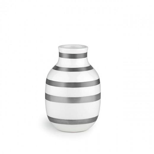 Kähler Omaggio Vase 12,5 cm Sølv 2 stk.-30