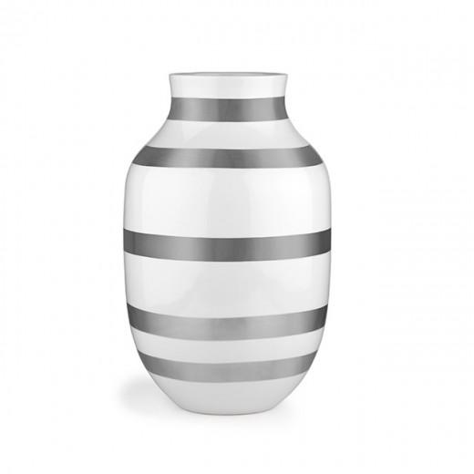 Kähler Omaggio Vase 30,5 cm - Sølv