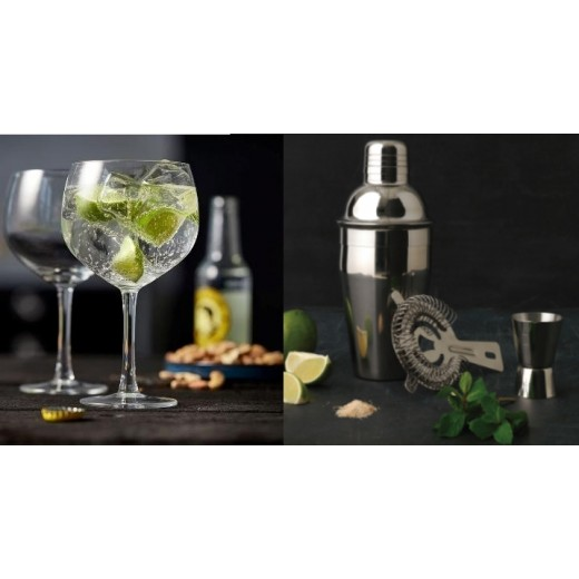 Lyngby Glas 4 Gin and Tonic glas og Bredemeijer barsæt-31