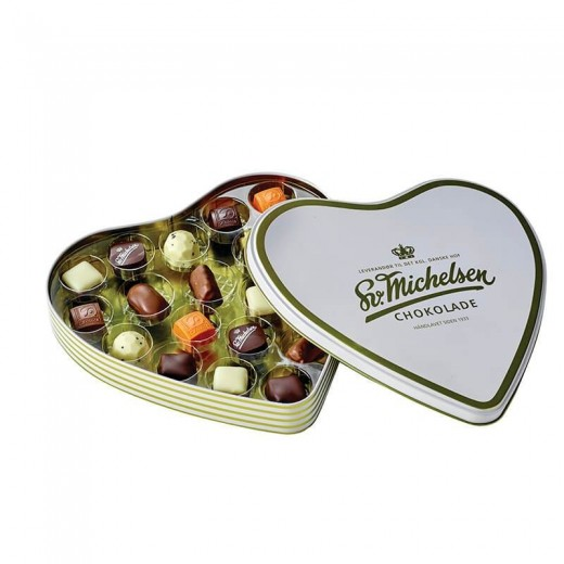 Sv. Michelsen Hjerteæske med 20 fyldte chokolader-34