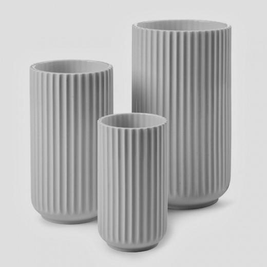 Lyngby - Grå Vase