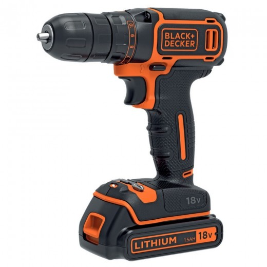 Black and Decker 18V Boremaskine + 200mA oplader + 1 batteri-32