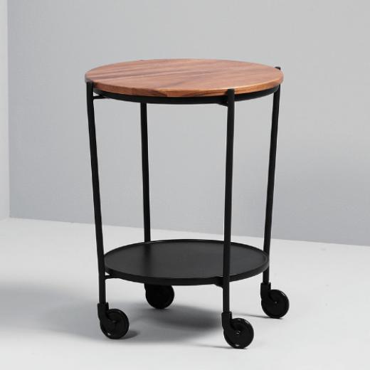SACKit ROLLit Bar og Bakkebord med ekstra bakke i akacietræ-020