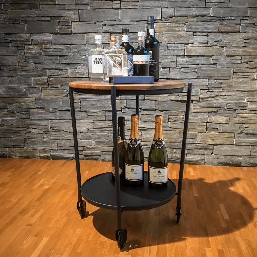 SACKit ROLLit Bar og Bakkebord med ekstra bakke i akacietræ-320