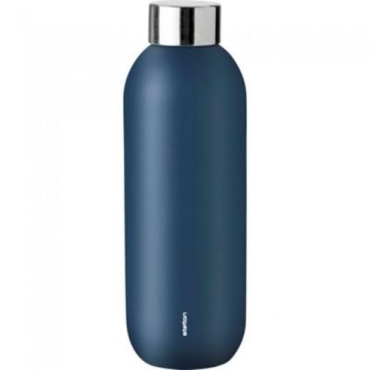 Stelton Keep Cool drikkeflaske i stål/dusty blue-36
