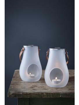 2 stk design with light-lanterner i frosted glas