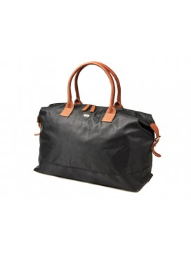 Bon Goût Rejsetaske i polyester med skind sort/cognac-20