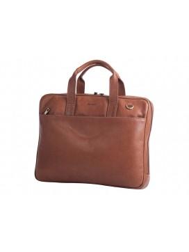 Bon Goût Computertaske i læder, cognac-20