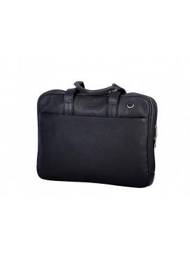 Bon Goût Computertaske i læder, sort-20