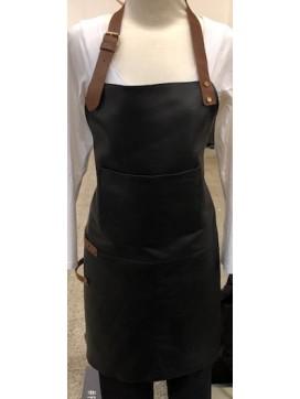 Bon Goût Forklæde i læder, sort-20
