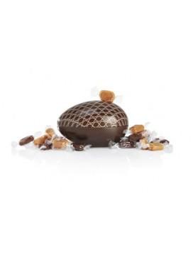 by PR Fløde karamel and chokolade karamel i brunt metalæg-20