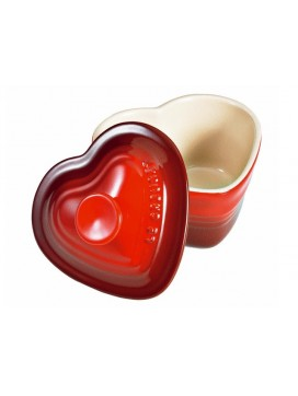 Le Creuset hjerteskål m/låg