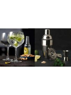 Lyngby Glas 4 Gin and Tonic glas og Bredemeijer barsæt-20
