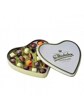 Sv. Michelsen Hjerteæske med 20 fyldte chokolader-20