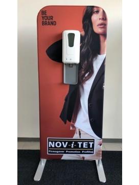 GoGoZip Reklamesøjle med elektrisk Spritdispenser-20