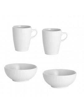 Pillivuyt - Plissé skål og krus