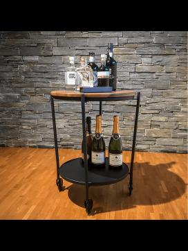 SACKit ROLLit Bar og Bakkebord med ekstra bakke i akacietræ-20