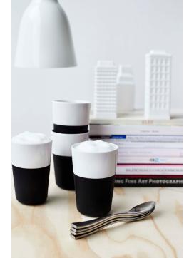 Eva Solo 4 stk kaffe latte krus og 4 stk kaffe latte skeer