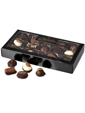 Sv. Michelsen -15 ass. chokolader i sort lakæske